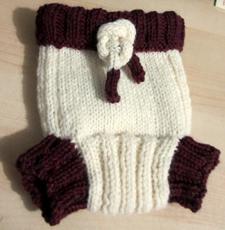 Knit diaper