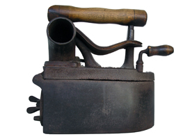Antique charcoal iron